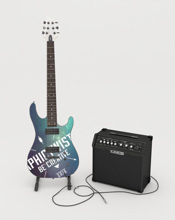 Guitar Mockup | Premium and Free PSD Resources