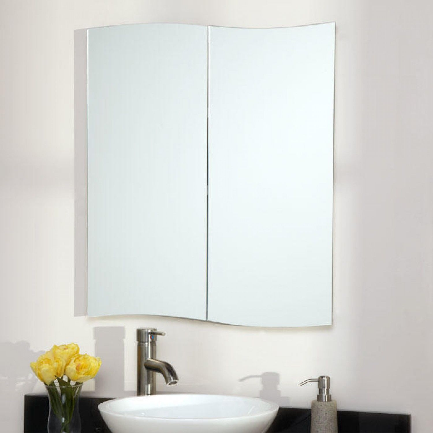 Gatewood Stainless Steel Recessed Medicine Cabinet - White Powder ...