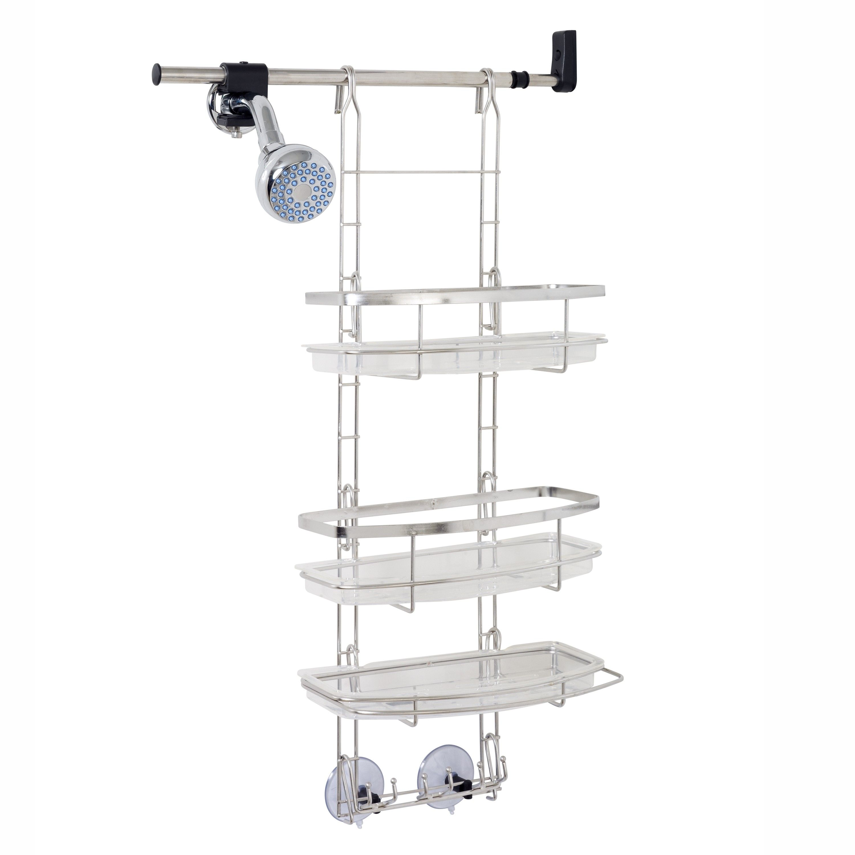 Zenna Home E2602ST, Make-A-Space Shower Caddy, Stainless Steel ...