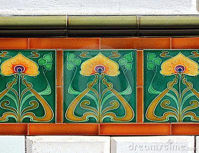 Art Deco Tegels : Jugendstil jugendstil tegels royalty vrije stock fotografie