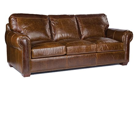 The Dump Furniture Outlet   ROCKY MOUNTAIN LEATHER: SOFA PECAN