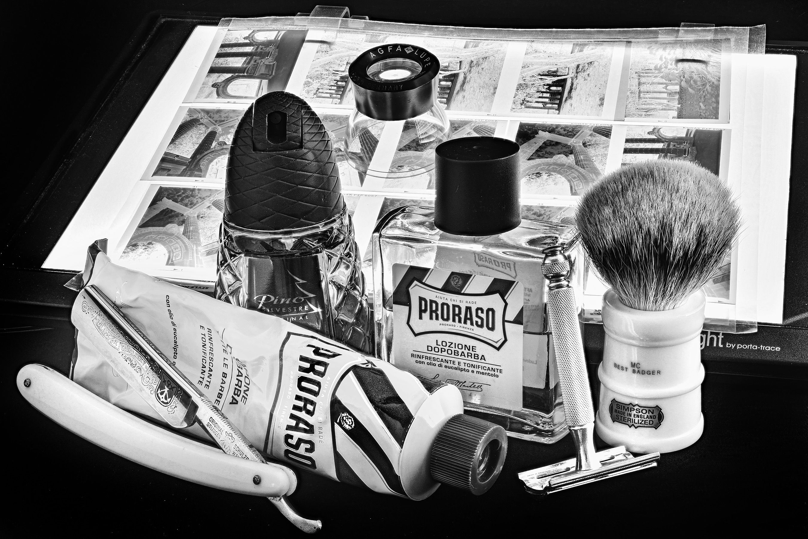 Proraso green shave cream and aftershave, Simpson
