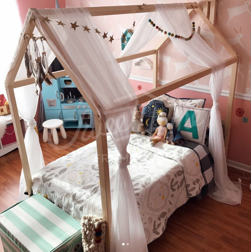 Montessori Bed Toddler Bed Baby Bed Wood House Bed Frame Wood