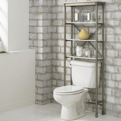 Orleans Over Toilet Etagere Marble Laminate 174 Target Toilet Storage Bathroom Space Saver Small Bathroom Storage