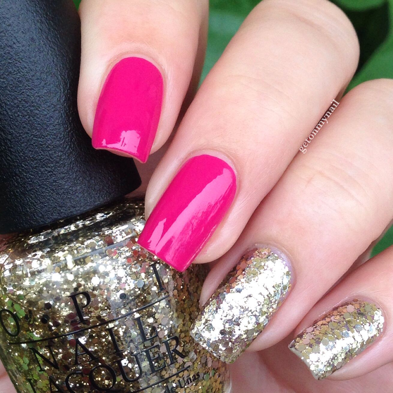 Sassy pink and glitter nail polish collaboration from Sally\'s Beauty ...