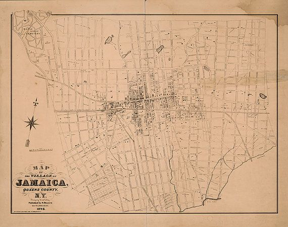 Map Of New York Jamaica.Map Of Village Of Jamaica Queens County New York Ny Dripps