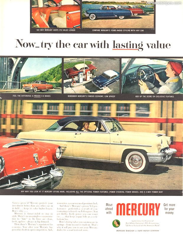 1953 Mercury - Now try the car with lasting value - Original Ad ...