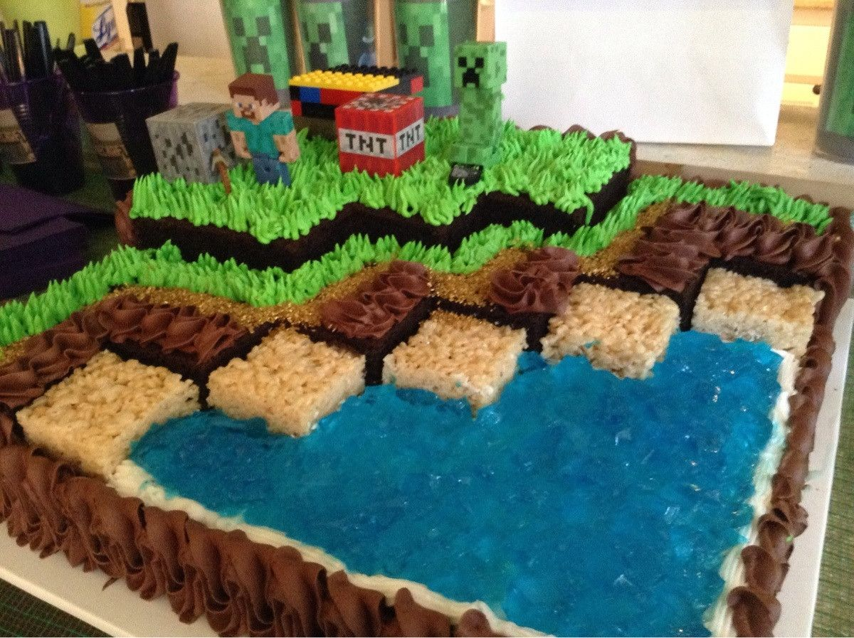 Minecraft huge birthday cake girl 39 s minecraft for Crafts for 7 year old girls