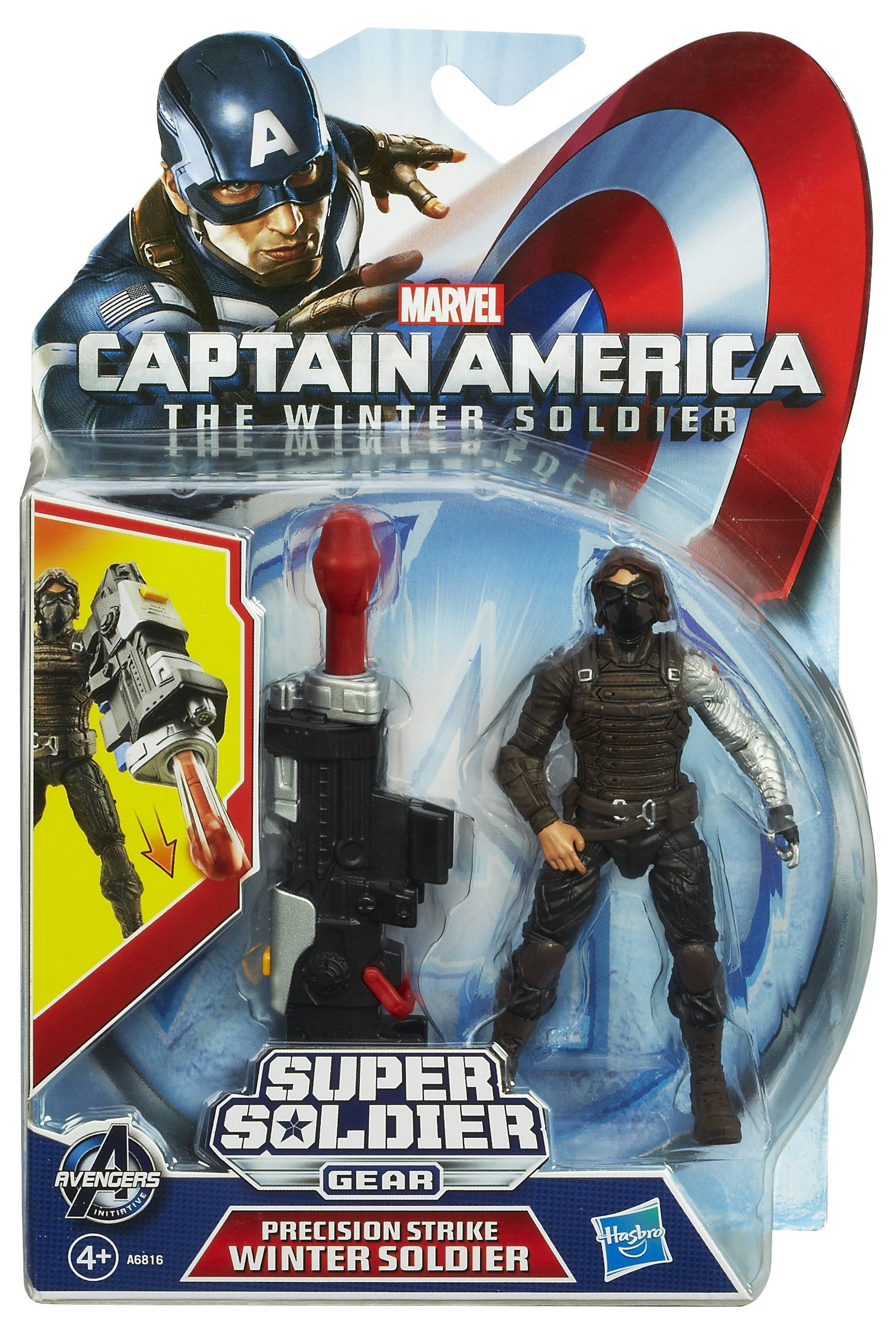 Captain America 3 75inch Marvel Super Soldier Gear Winter Soldier Figure C Captain America Super Soldier Captain America Action Figure Captain America Figure