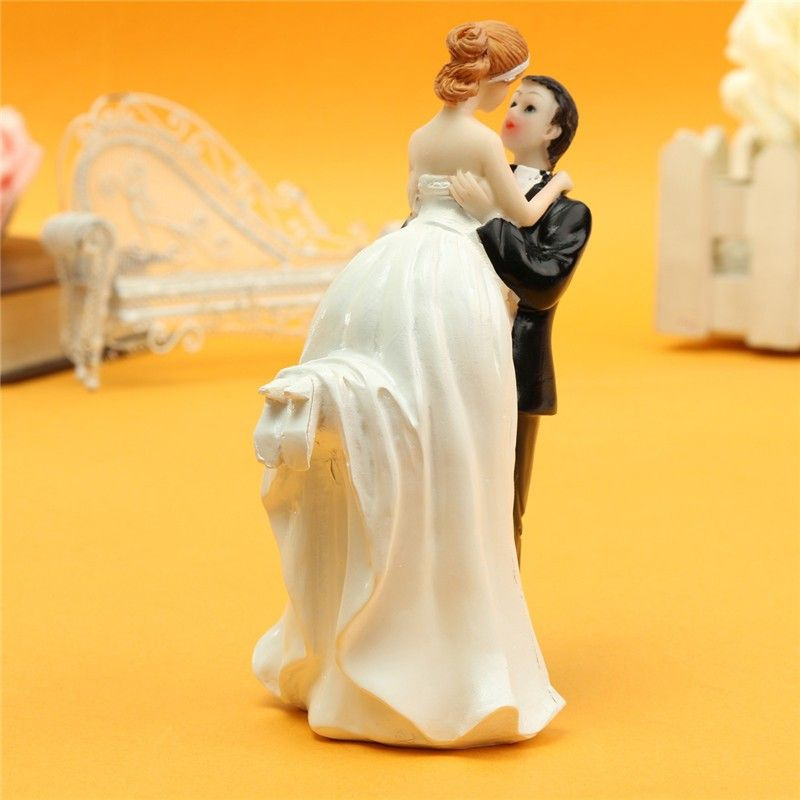 Bride And Groom Resin White Stand Wedding Cake Topper | Resin ...