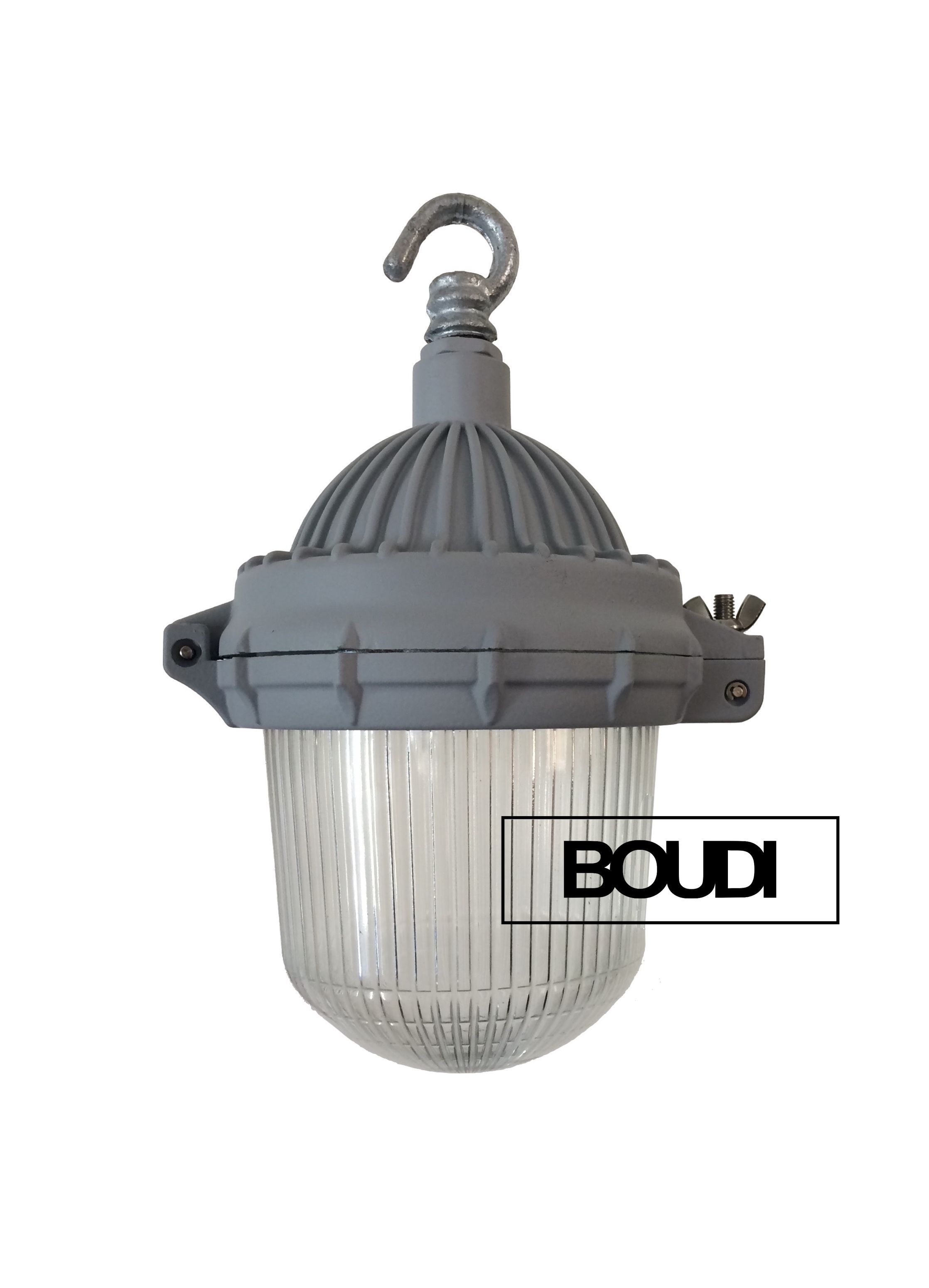 Boudi 50s lobby pendant light metal crown holophane glass www boudi co nz