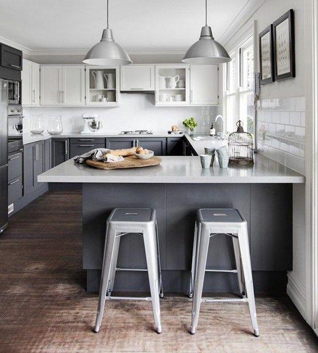 11 fotos de cocinas grises para inspirarte decoraci n for Elemento de cocina gris