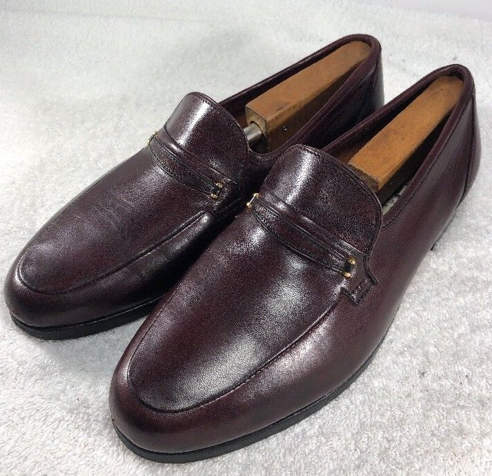 Bruno Magli Shoes 9M Brown Men's Leather Kiltie Tassel Loafers Made in Italy
