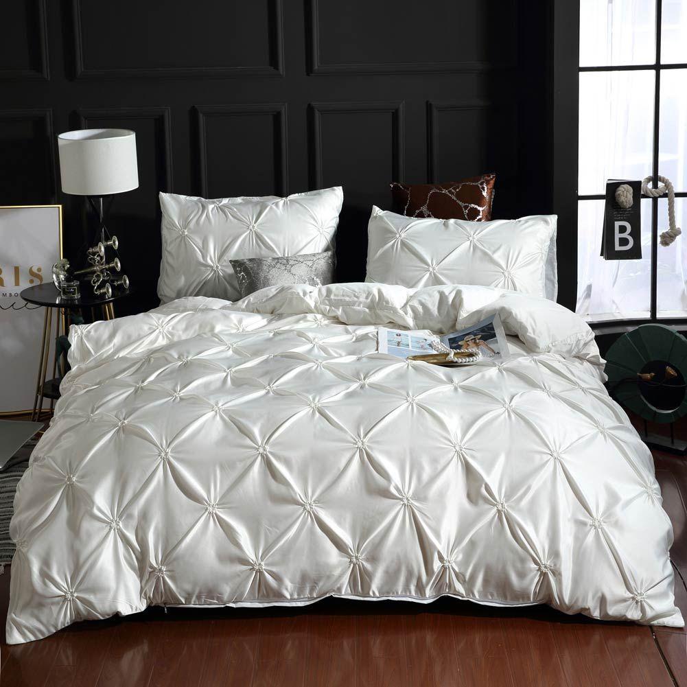 Satin Microfiber Bedding Set Solid Color Duvet Cover