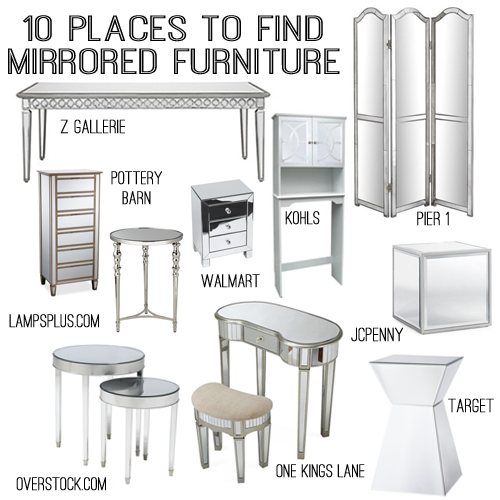 Genial 10 Sources For Mirrored Furniture