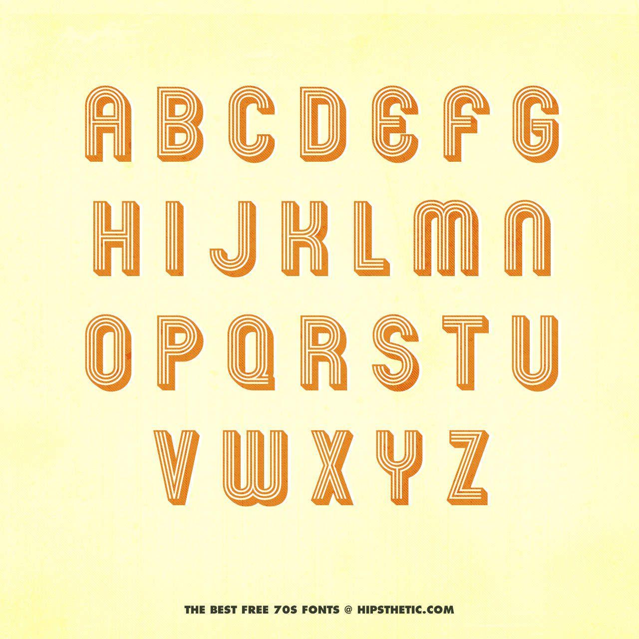 10 Best Free 3D Fonts Available Online | Fonts | 1970s font