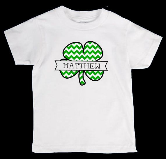 St Patricks Day Personliazed Chevron Name Onesie Or Kid S T Shirt Two Color Valentines Shirt Valentines Day Shirts Easter Shirt