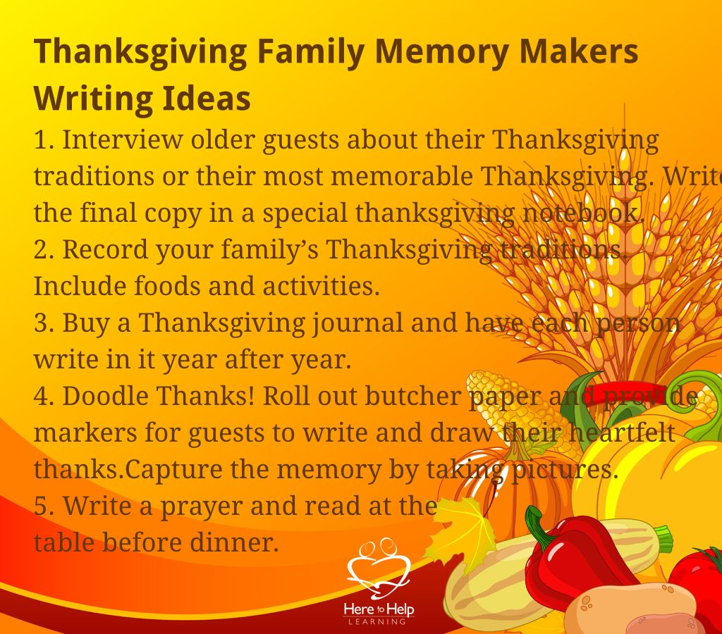 Five Thanksgiving Family Memory Maker Need More Fun In