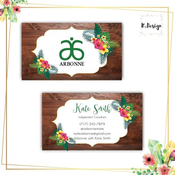 Arbonne Business Cards Fl Card Free