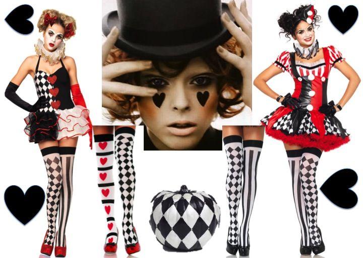 halloween 2015 harlequin clown fancy dress costumes - Halloween Costumes Harlequin