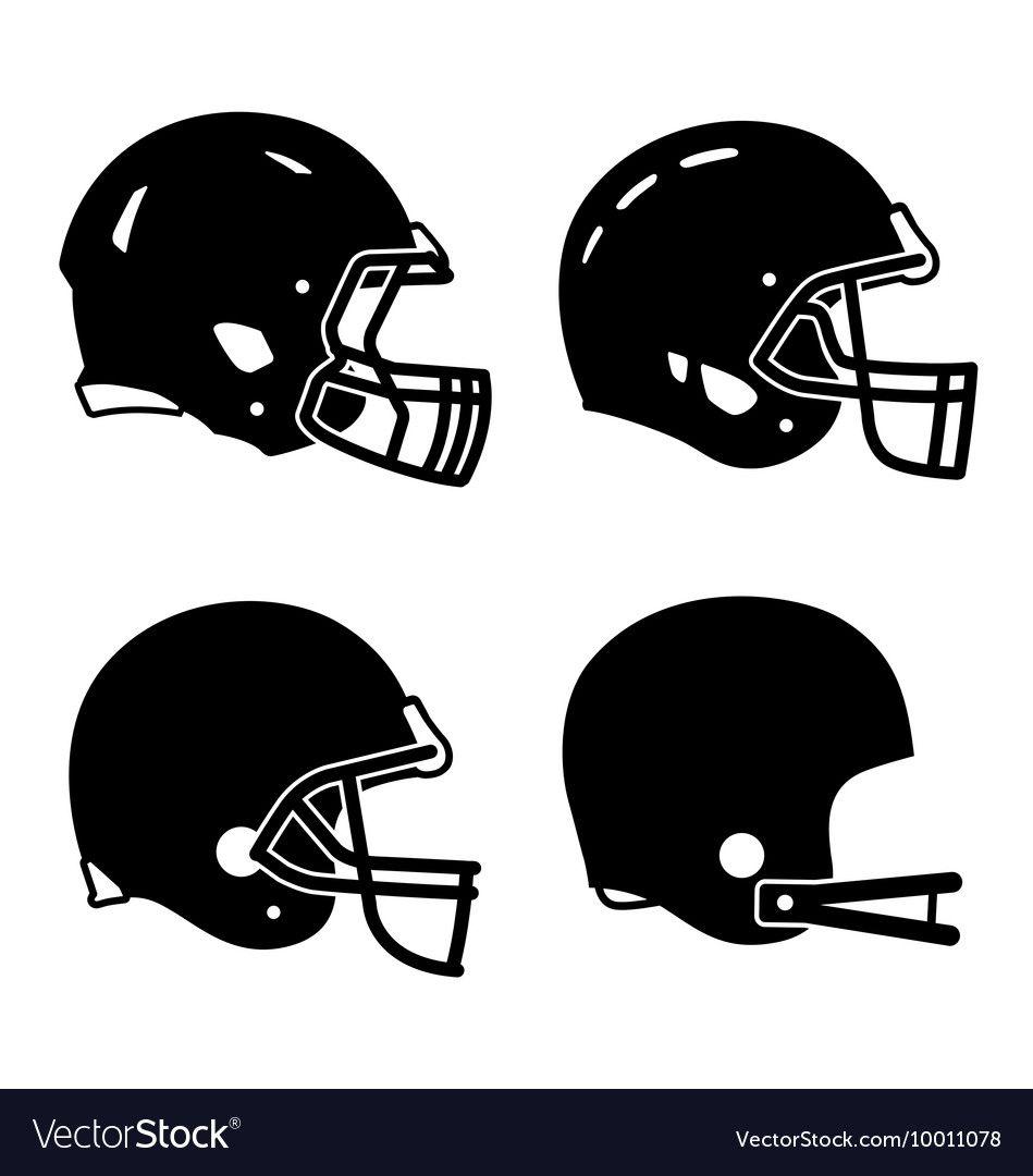 Football helmet sport icon symbols royalty free vector