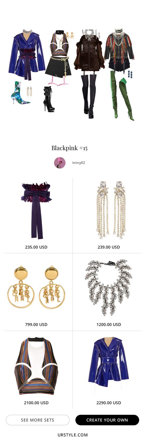 Blackpink Blackpink Kpop Idols Kidol K Idol Ootd Outfits Styles Fashion Inspiration Virtual Stylist 2019 Come Fashion Kpop Fashion Stage Outfits
