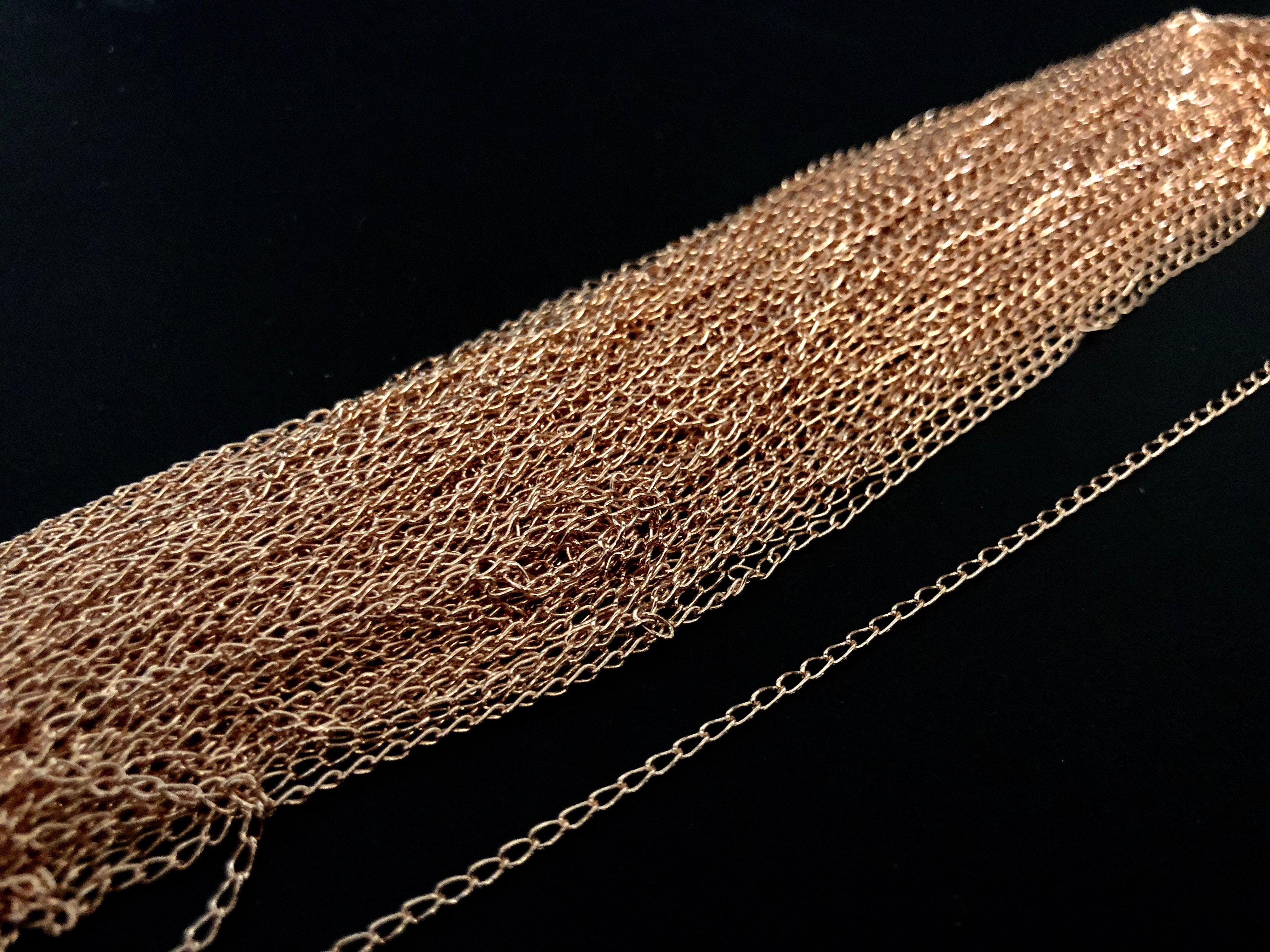2f3bd54ee033 CADOLRO182M Cadena en oro rosa laminado de 18k