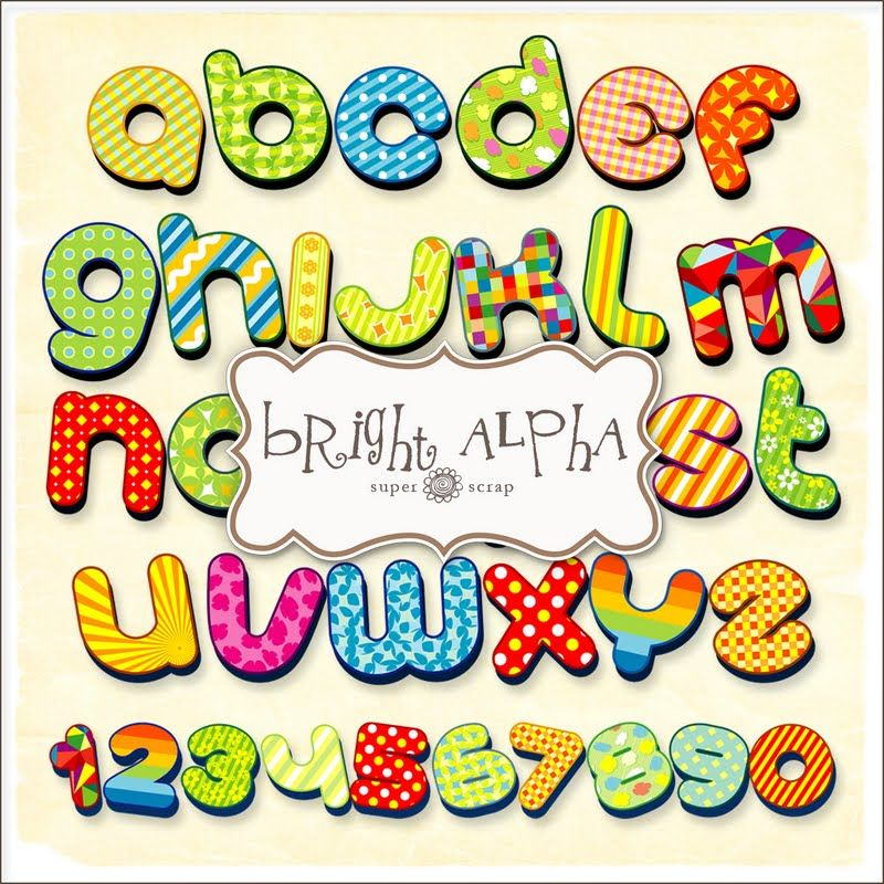 Abc Alphabet Letters Clip Art: Super Cute Free Letters For Making Signs And Headers