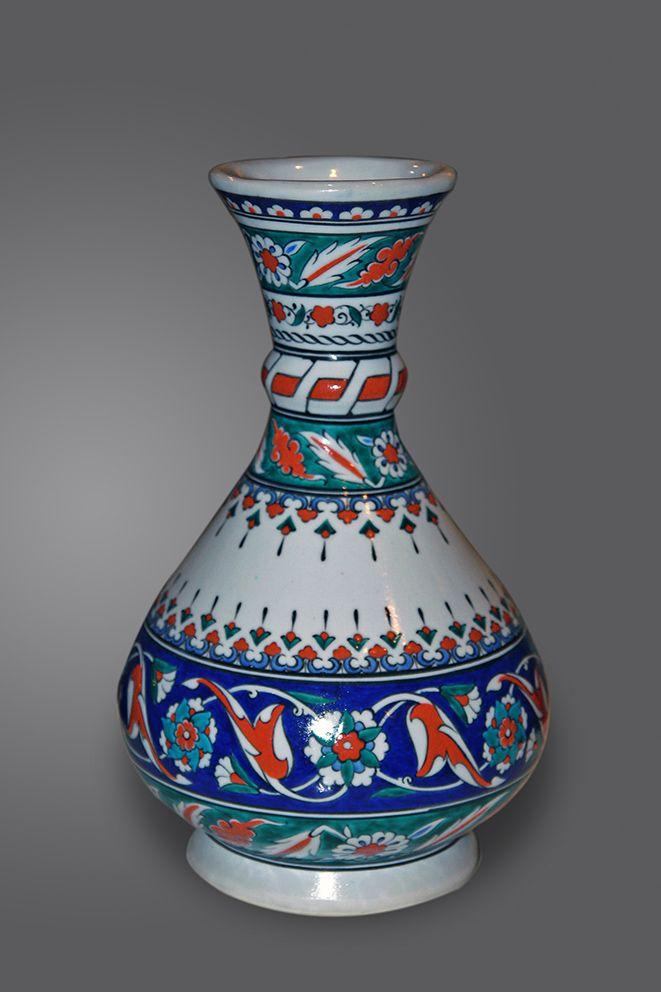 Iznik Vase Vaso Made By Master Znik Ceramic Artist Adnan Hoca