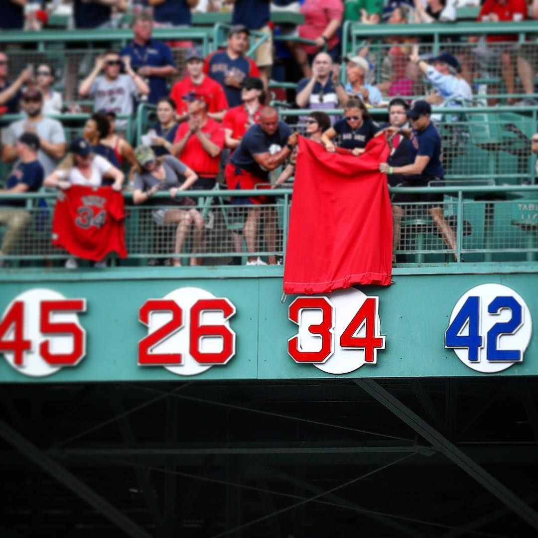 David Ortiz\'s 34 becomes the 10th number retired at Fenway Park ...