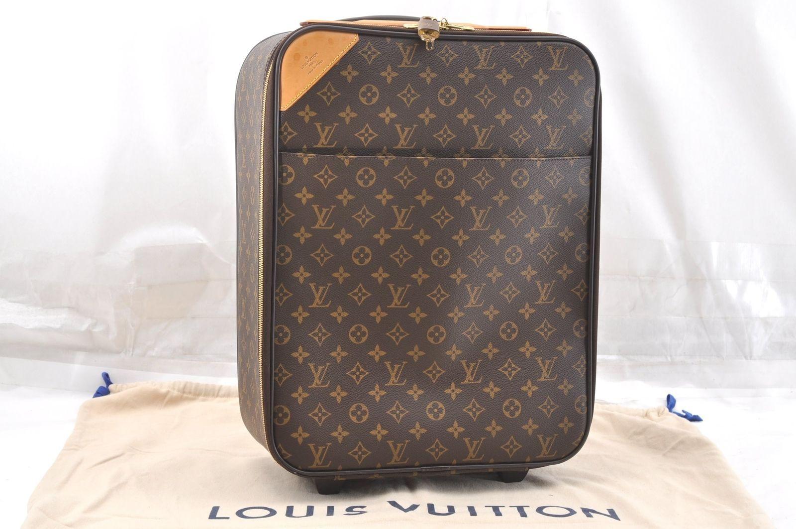 Authentic Louis Vuitton Monogram Pegase 45 Travel Carry Bag M23293 Lv 58323 Travel Bags Carry On Louis Vuitton Travel Bags Louis Vuitton Monogram