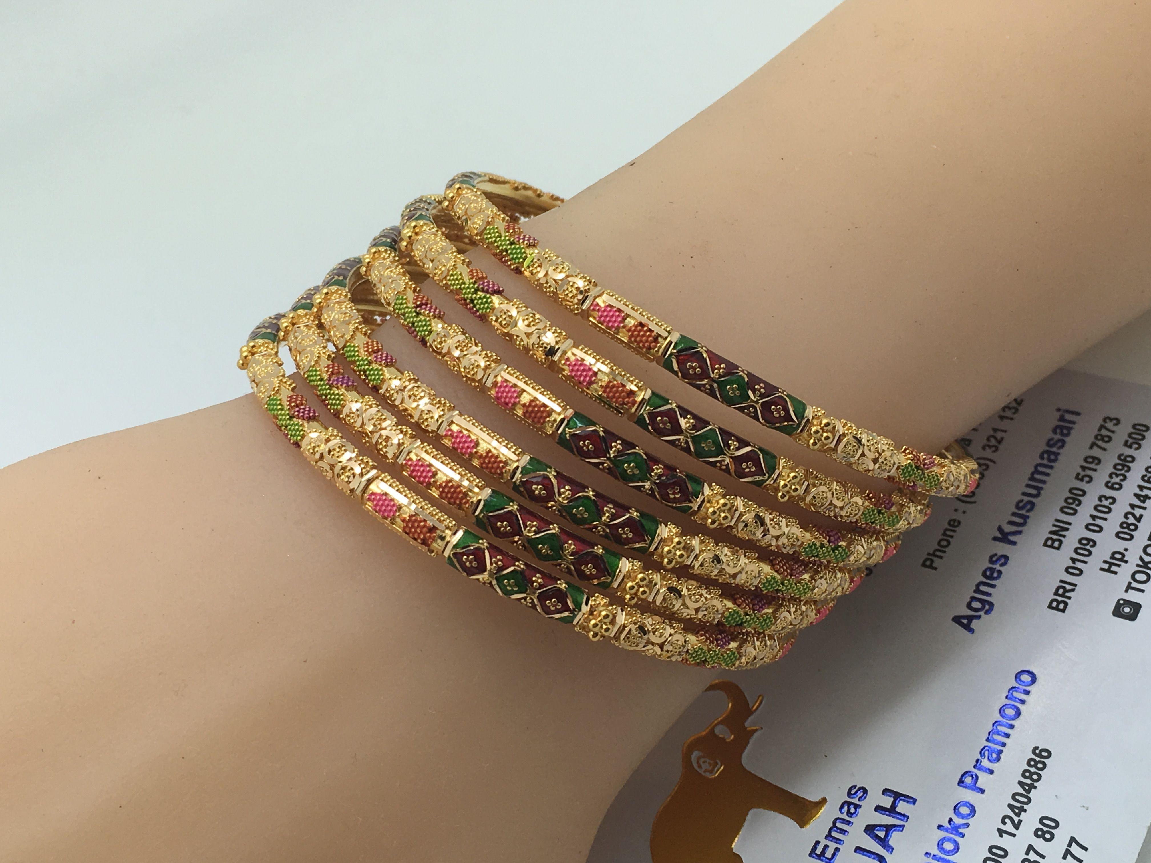 K gold dubai set bangles gr diameter cm dubai