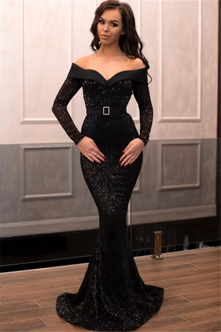 designer abendkleider lang schwarz   abendkleid mit Ärmel