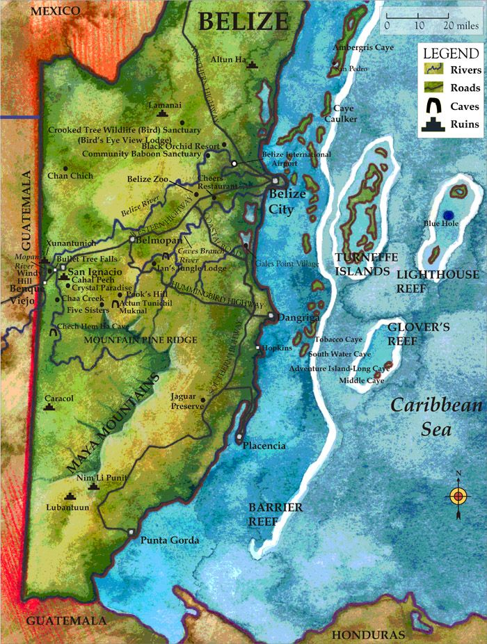 Maps and Adventures of Belize Belize Honduras Pinterest