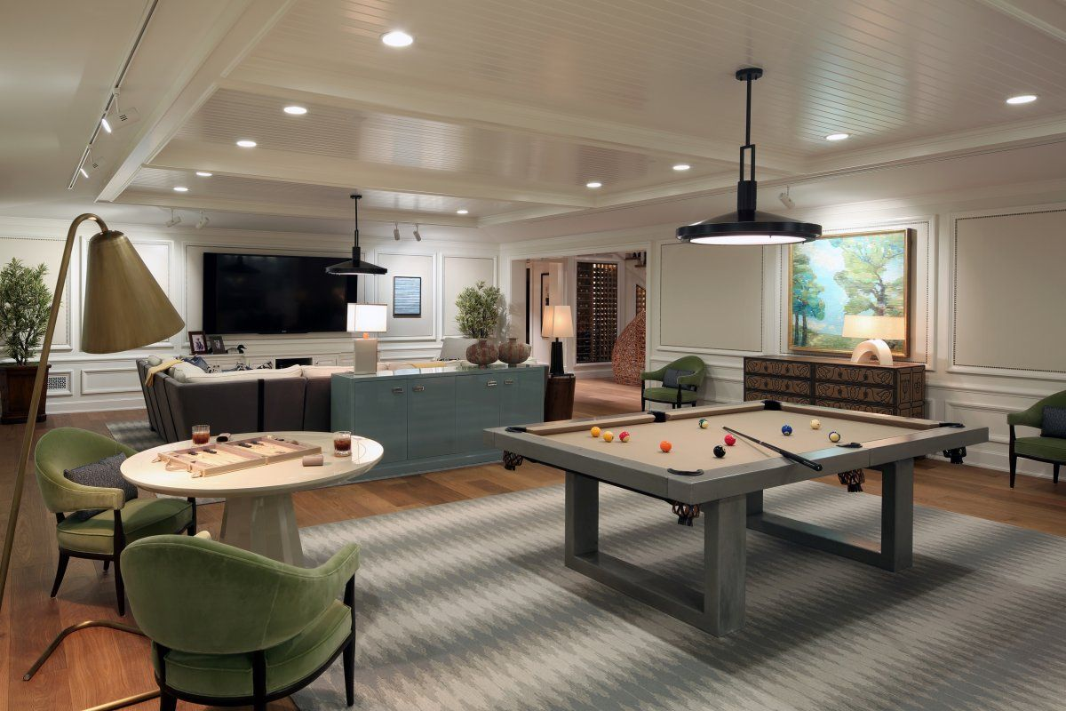 Interior Design Game Room Family Pool Table Room Home