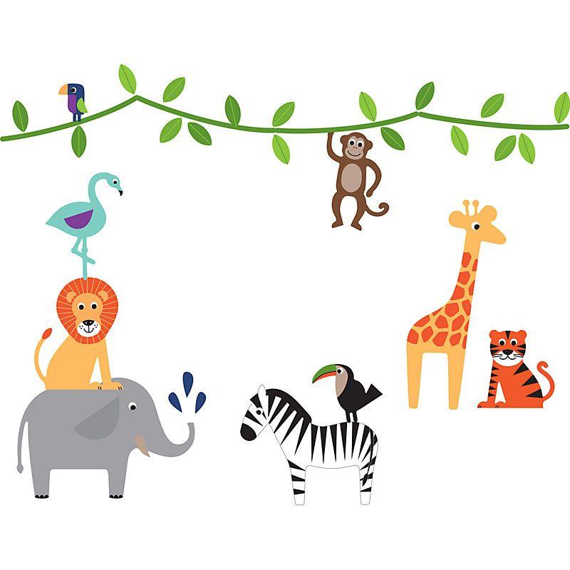 buy little home at john lewis animal fun wall stickers | john lewis