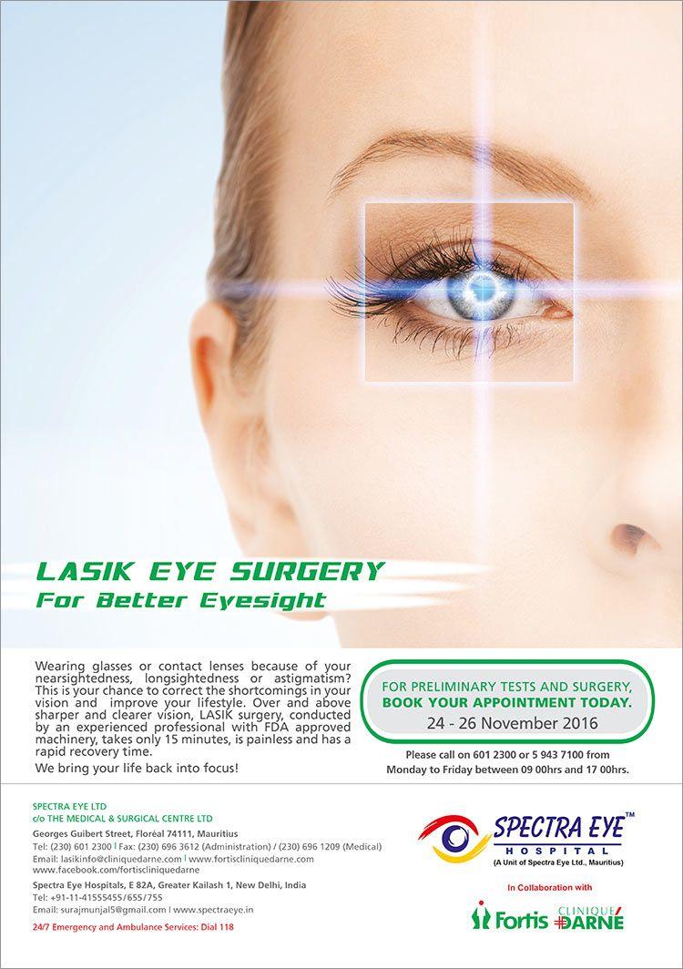 Fortis Clinique Darne Lasik Eye Surgery Tel 601 2300 Lasik Eye Surgery Eye Surgery Lasik