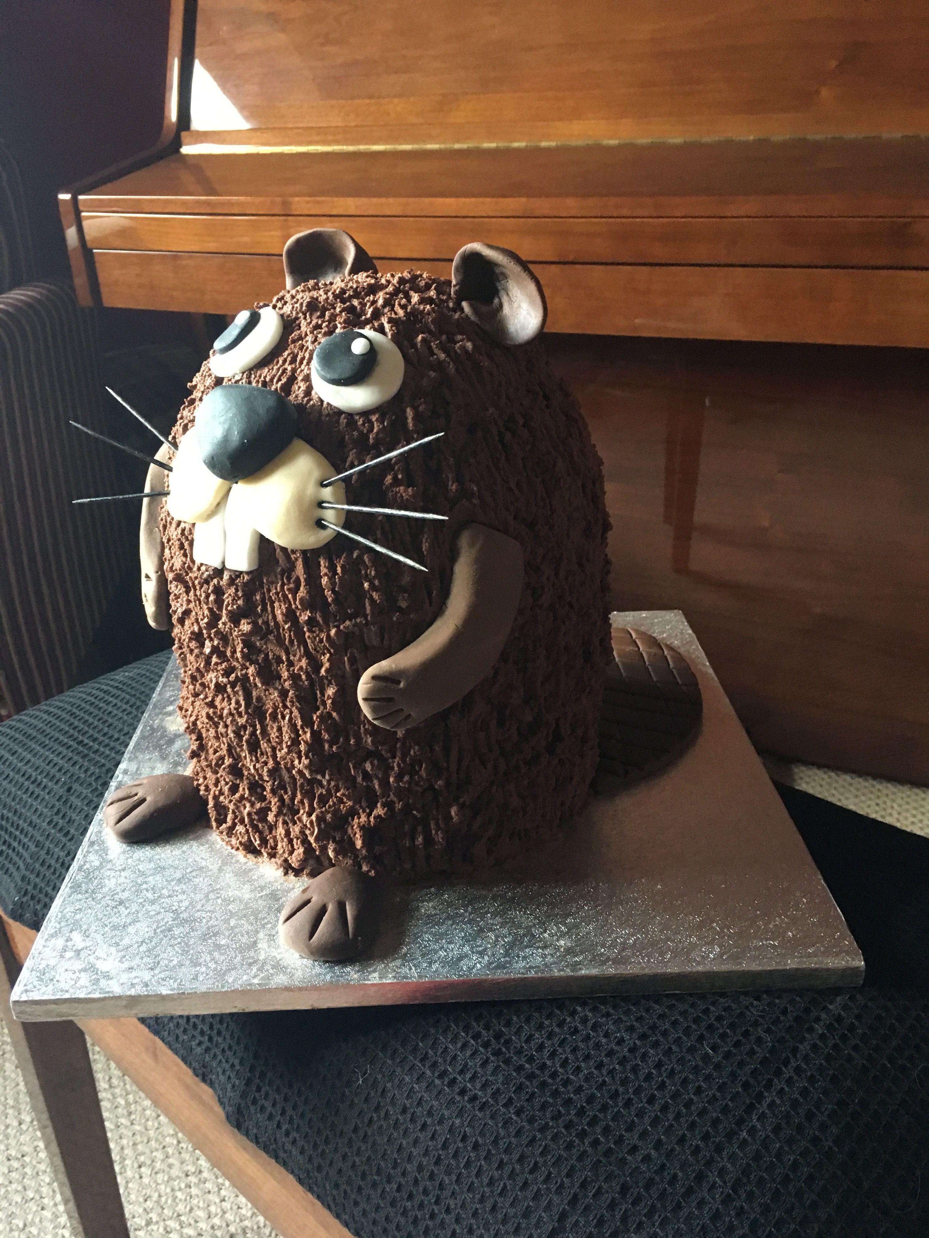 Beaver cake animal cakes cupcake cakes cake decorating
