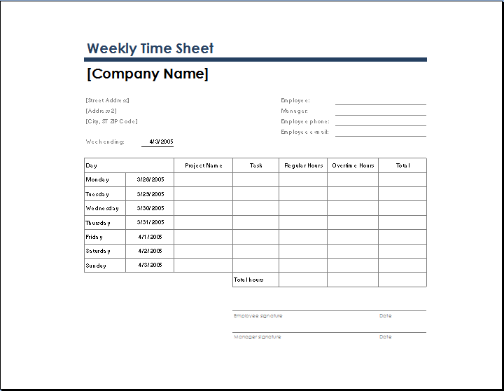 Attractive Task Sheet Templates Weekly Time Sheet With Task And Overtime  Microsoft Templates Timesheet