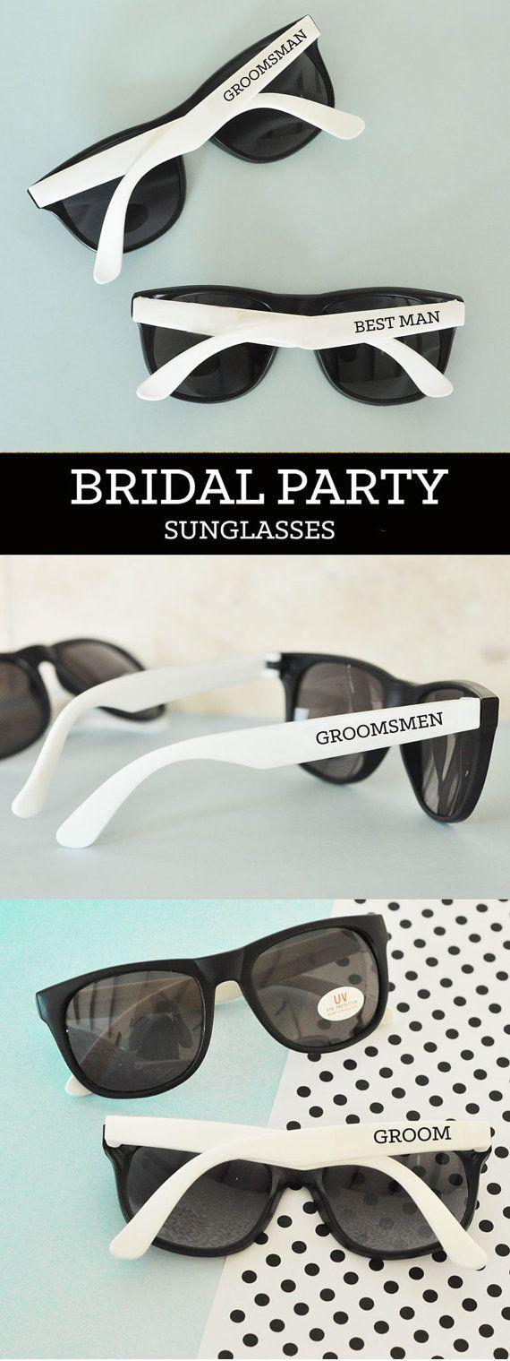 cdcfcec153 Groomsmen Sunglasses Groom Sunglasses Bachelor Party Gifts Ring Bearer  Sunglasses Ring Security Groomsmen Gift (EB3121) …