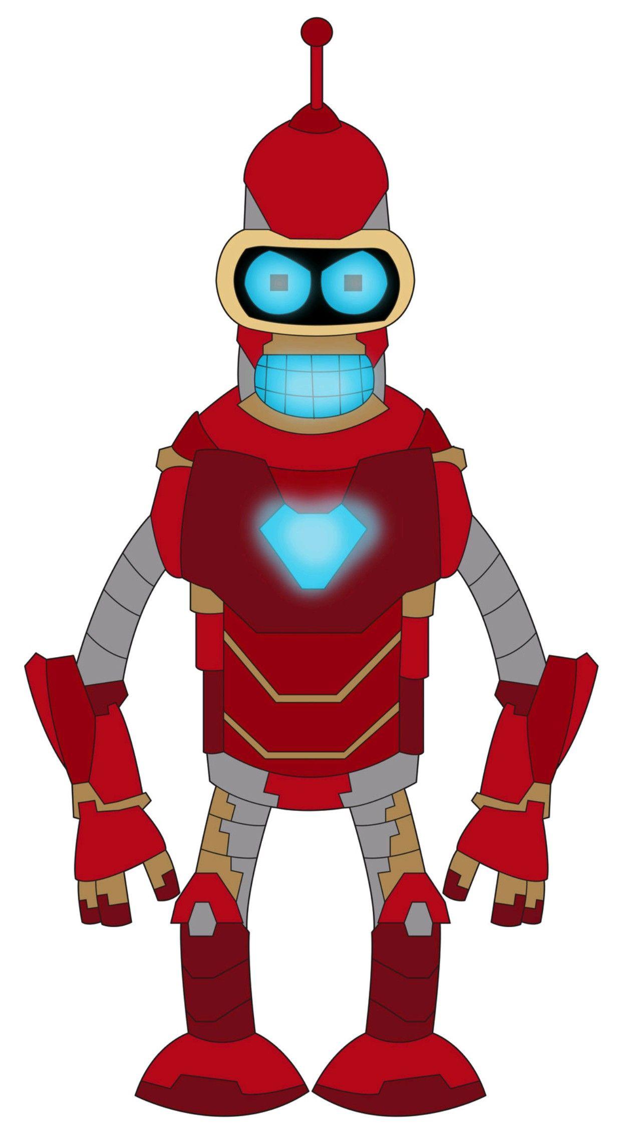 Iron Bender Infinity War Futurama Bender Bending Rodriguez