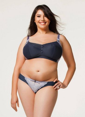 Femininity and Sexuality Plus Size Bra Lavender Sorbet Modesty ...