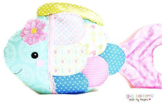 Fish Sewing Pattern - Fish Pillow Toy Sewing Pattern - PDF Pattern ...