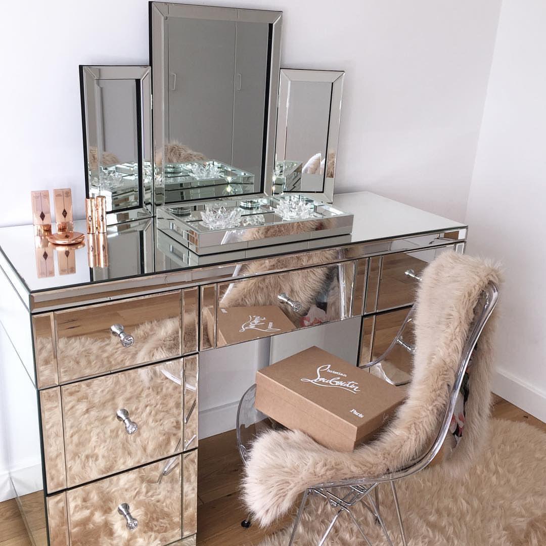 Mirrored vintage vanity house pinterest vintage vanity