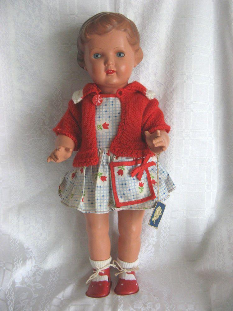 Schöne alte Schildkröt Puppe Ursel SiR 41 Original-Kleidung 1950 ...