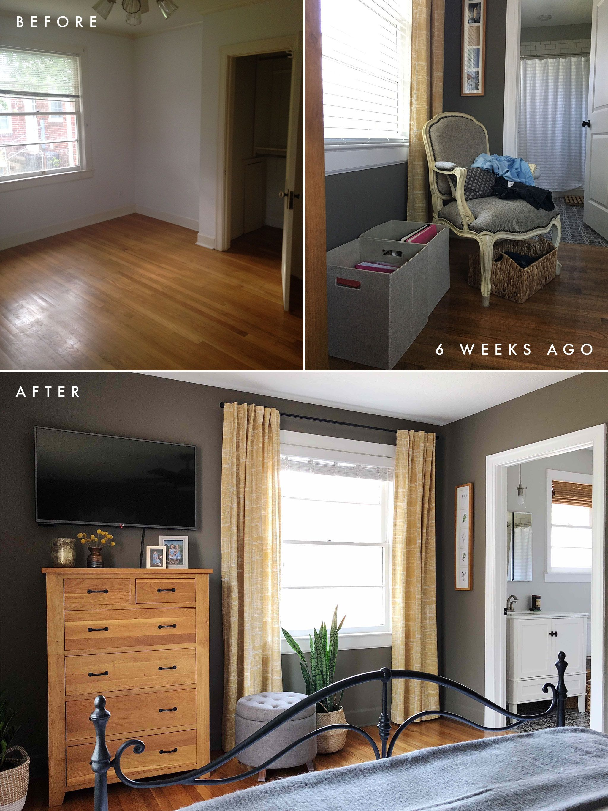 Master bedroom before and after  Master Bedroom Reveal One Room Challenge Week Six  Home Decor