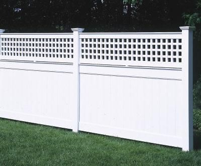 4 Ft Universal With Lattice Topperfrom Walpole Outdoors Walpole Outdoors Outdoor Shower Enclosure Vinyl Fence