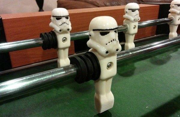 3D Printed Stormtrooper Helmets Turn A Foosball Table Into An Imperial  Battle | ThinkGeek U003c3s | Pinterest | Helmets, 3d And Printing