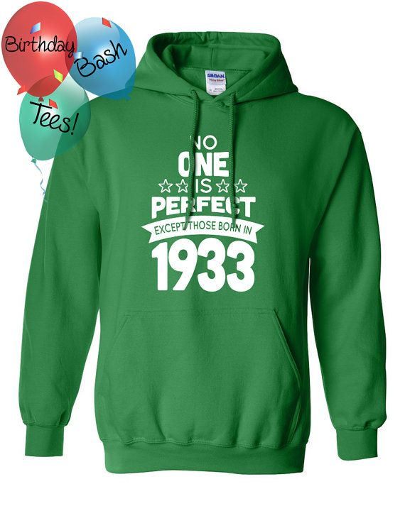 83 Year Old Birthday Hoodie No One is Perfect by BirthdayBashTees