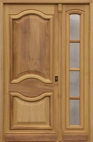 Puertas madera maciza puertas y ventanas becarte for Puertas metalicas entrada principal